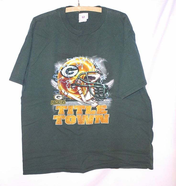 NFL Green Bay Packers, Title Town, Tee Shirt, Size Large #NFL #GreenBayPackers