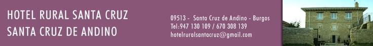 #Hotel Rural Santa Cruz. Santa Cruz de Andino. #Merindades   Datos de contacto