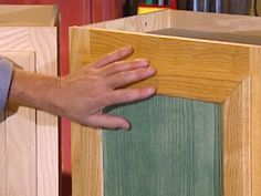 How to Stain Wood Cabinets : How-To : DIY Network