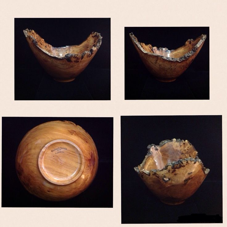 "Local wood craftsman Richard Gould created this beautiful ""turned"" bowl.  This is just one of his wonderful creations displayed in our gallery."
