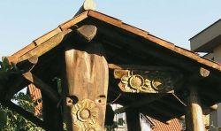 """Altany ogrodowe zdobione rzeźba - Pracownia rzeźby """"TROCINKA"""""""