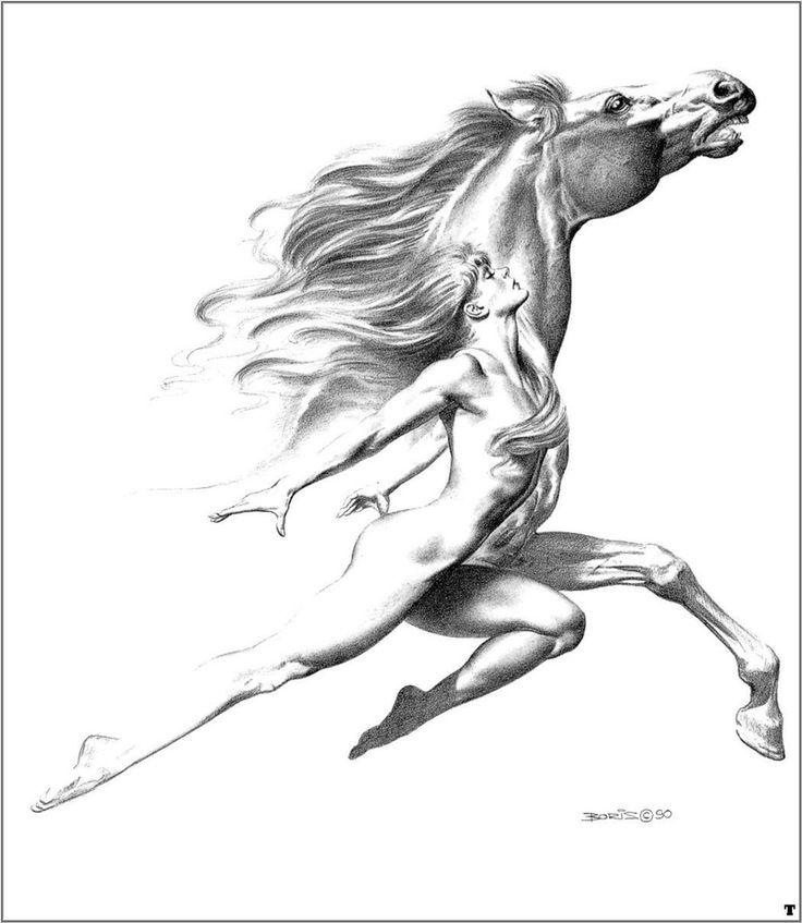 Woman Dancing with Horses or Horses Dancing