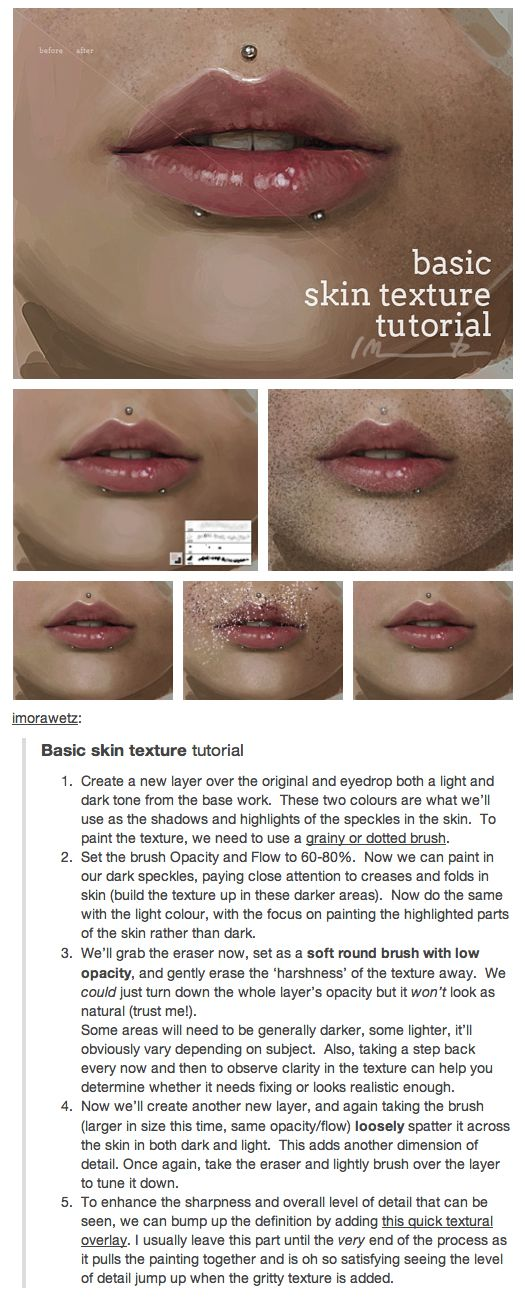 Basic skin texture tutorial by Isabella Morawetz