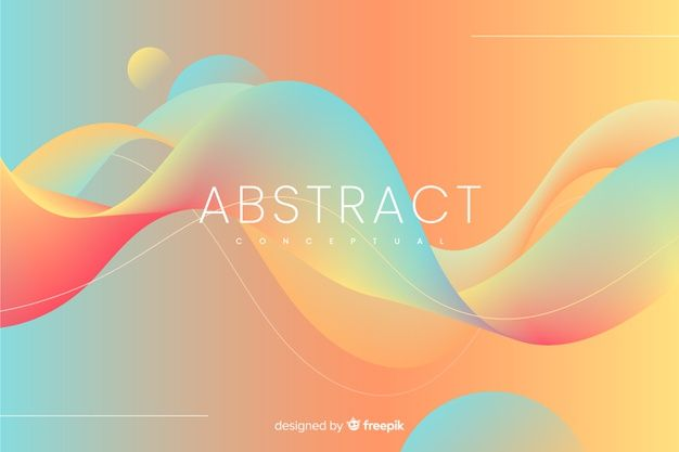 Download Colorful Abstract Background With Wavy Shapes For Free