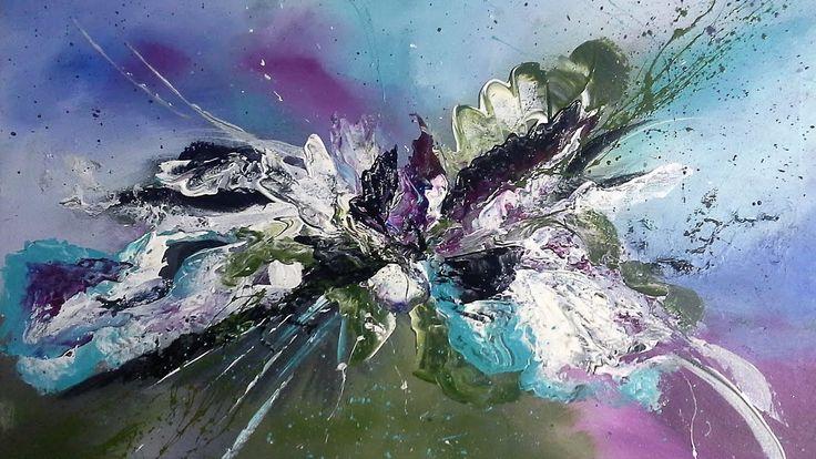 Einfach Malen-Abstrakte Acrylmalerei.  Easy Painting-Abstract Art Painting