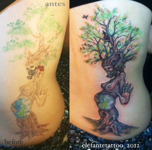 mother nature tree tattoo repair tattoos pinterest trees mothers and nature. Black Bedroom Furniture Sets. Home Design Ideas