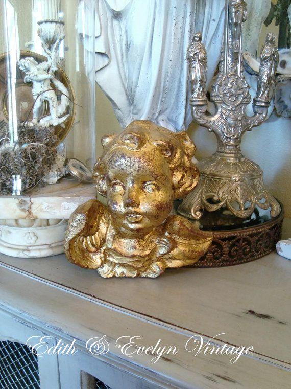 Large Vintage Florentine Italian Cherub by edithandevelyn on Etsy