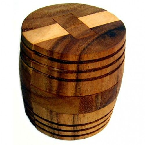 The barrel is an old and favourite classic interlocking puzzle.A challenge for experienced puzzlers!