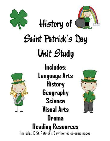 History of St Patrick's Day Unit Study with FREE Printables and Worksheets (PreK - 5) | Free Homeschool Deals ©