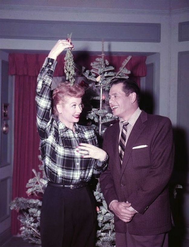 """Publicity photo from """"I Love Lucy Christmas Show"""" episode (1956) - 25 I Love Lucy photos in color"""