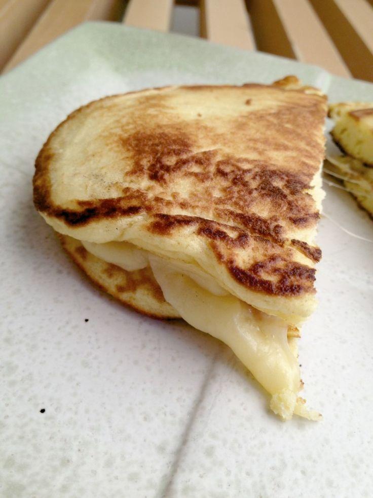Coconut Flour Flatbread: made with 1 egg; 1 Tbsp coconut flour; 1 Tbsp parmesan cheese; 1/8 tsp baking powder; 2 Tbsp heavy cream; 2 pinches sea salt