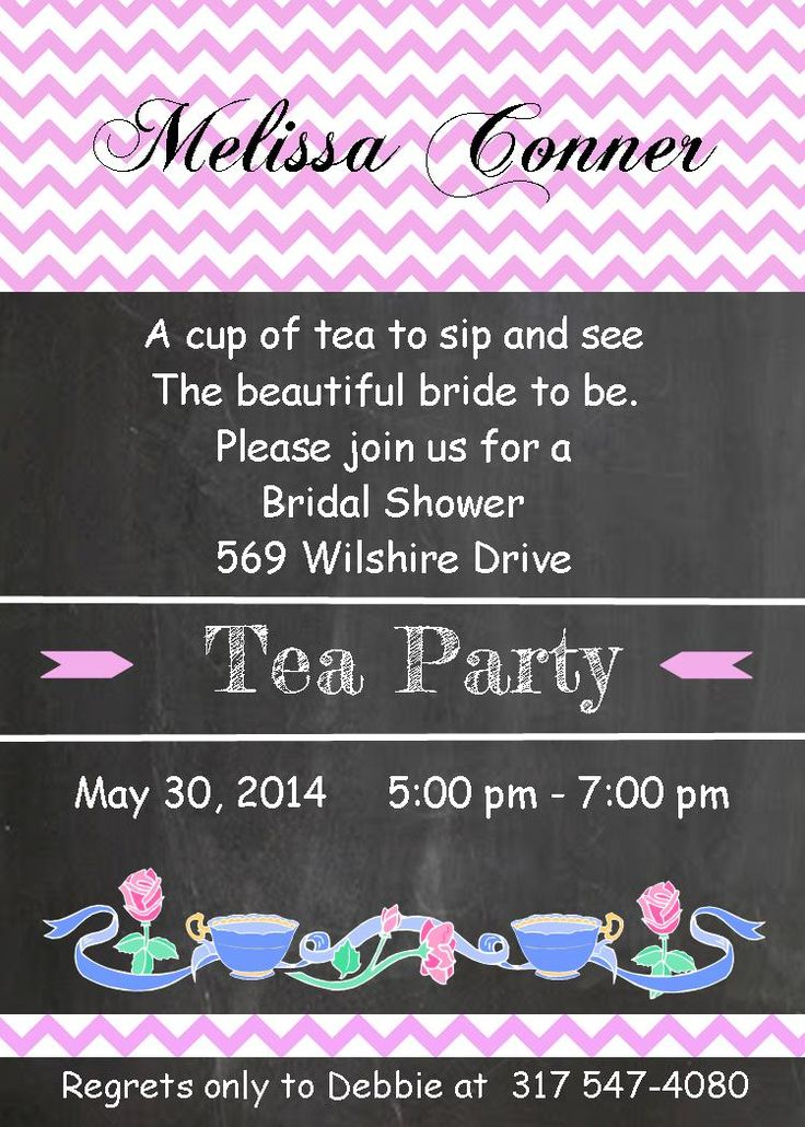 recipe themed bridal shower invitation wording%0A Tea Party Invitations for adults bridal shower