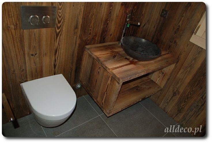 Salle de bain en vieux bois/ łazienka w starym drewnie