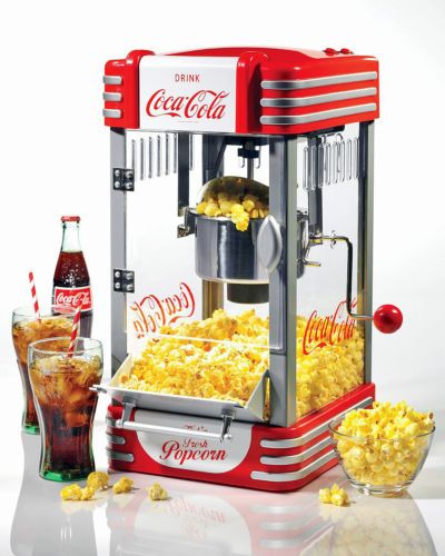 COCA-COLA CLASSIC KETTLE POPCORN MAKER RETRO POPPER MACHINE GAME ROOM BAR MOVIES