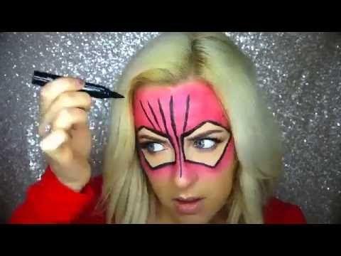 Simple Spiderwoman Halloween Makeup