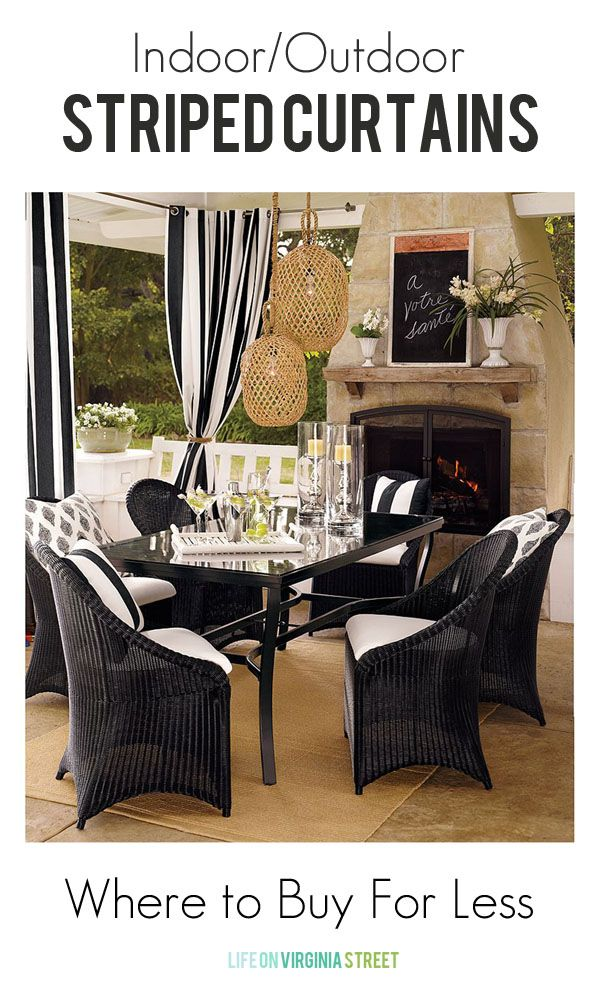 Striped Outdoor Curtains And Drapes