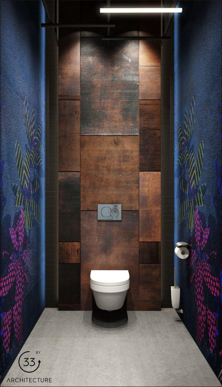 Restaurant bathroom interior | 33BY Architecture - Ivan Yunakov arch. workshop