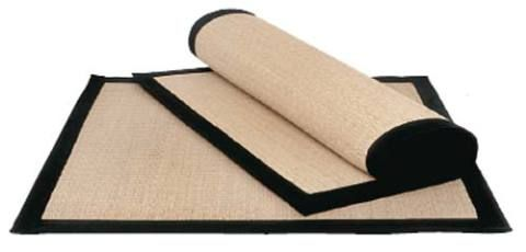 Use como tapete o tatame de palha de arroz e borda de sarja, de 90 x 90 cm. P...