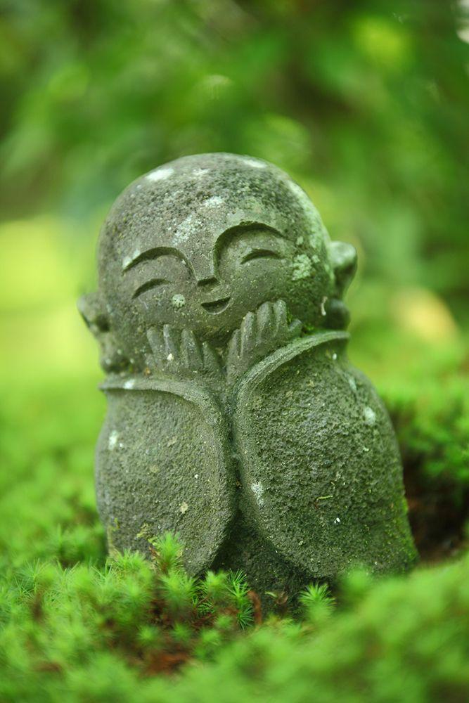 Smiling Jizo statue of Enko-ji temple, Kyoto, Japan