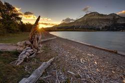 Sunrise at Waterton Lakes National Park in Alberta
