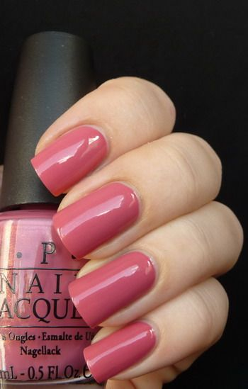 My Address is Hollywood, #OPI - dusty / mauvy pink #nail_polish / lacquer