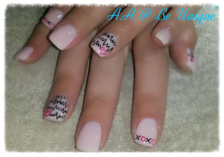 Nails done by Angelique Allegria. #pink # heartbeat #xoxo #valentines #nailart #BeUnique @angiedsa