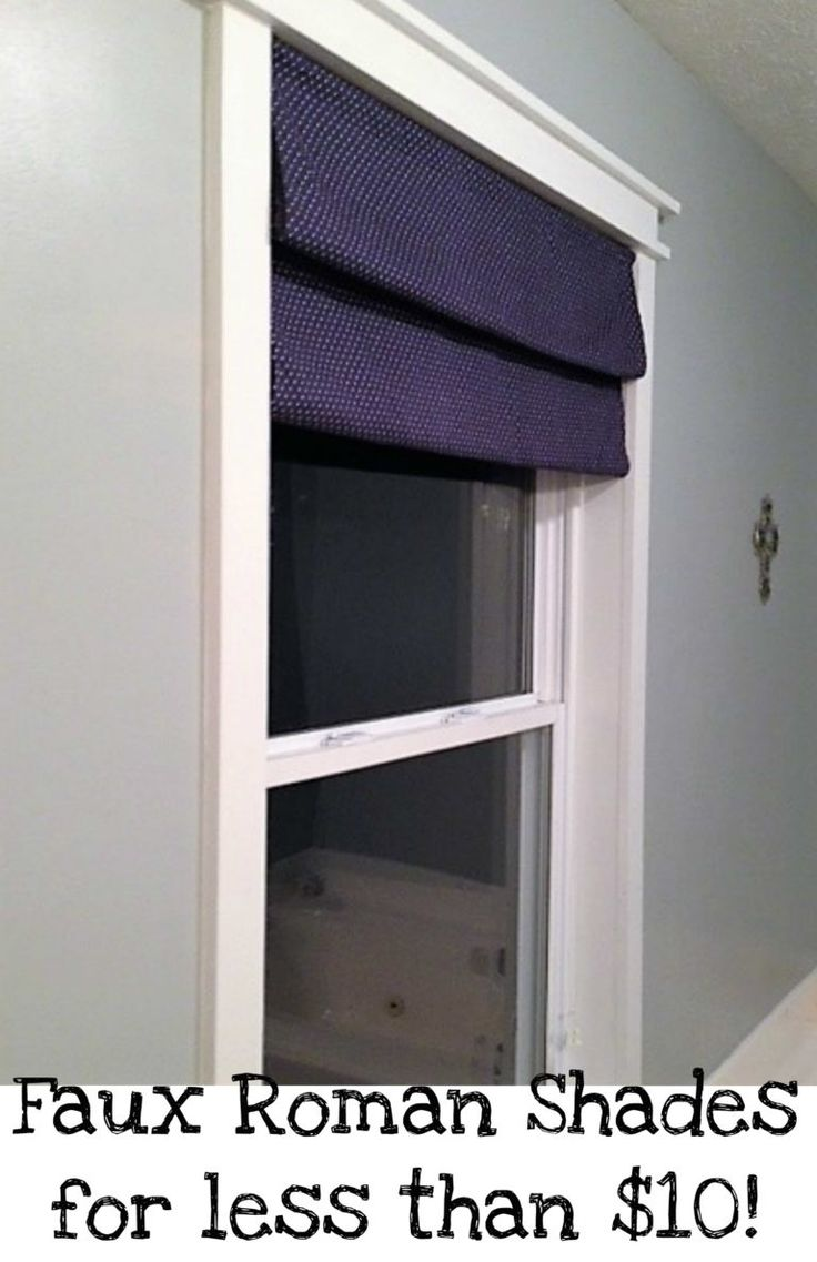 Window Treatments For Less Part - 35: Cheap DIY Window Treatment ~ Faux Roman Shades For Less Than $10!