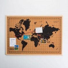 Mappa del Mondo in Sughero