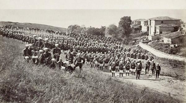 1878 Osmanlı Rus harbi sırasında Kumburgaz yakınlarına konuşlanmış Rus ordusu  - ISTANBUL