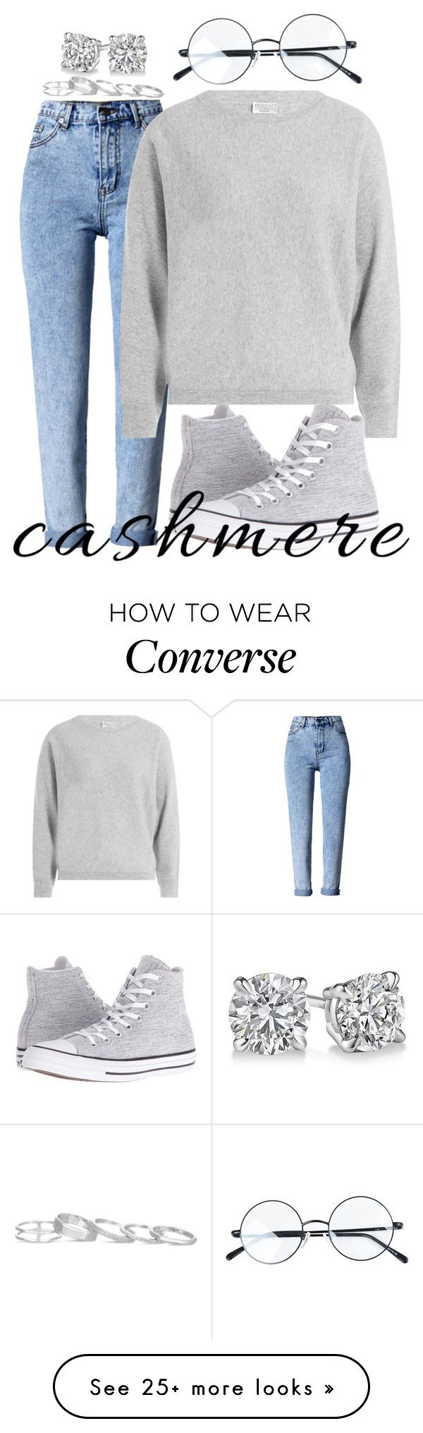 """~334\\334~"" by taytay-55 on Polyvore featuring WithChic, Brunello Cucinelli, Converse and Kendra Scott"