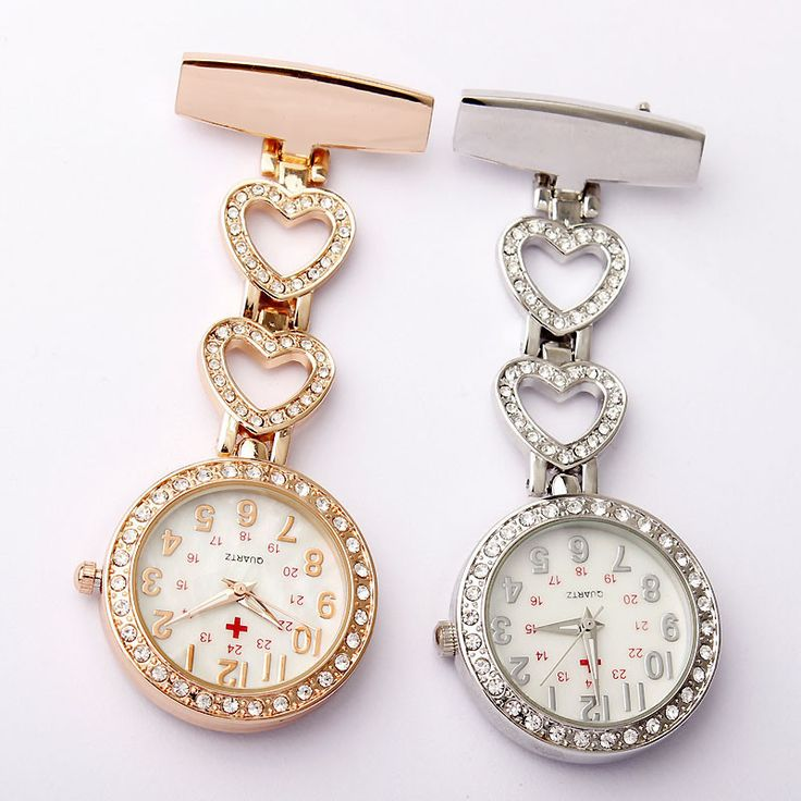 You're a nurse, doctor or care assistant and you like a little of the finer things in your life then this high quality luxury fob watch is for you! Choose from a Heart or Star design. Specifications: