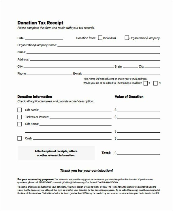 Donation Tax Receipt Template Awesome Printable Receipt Forms 41 Free Documents In Word Pdf Receipt Template Donation Form Address Book Template