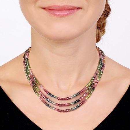 Multi-Color Tourmaline Necklace