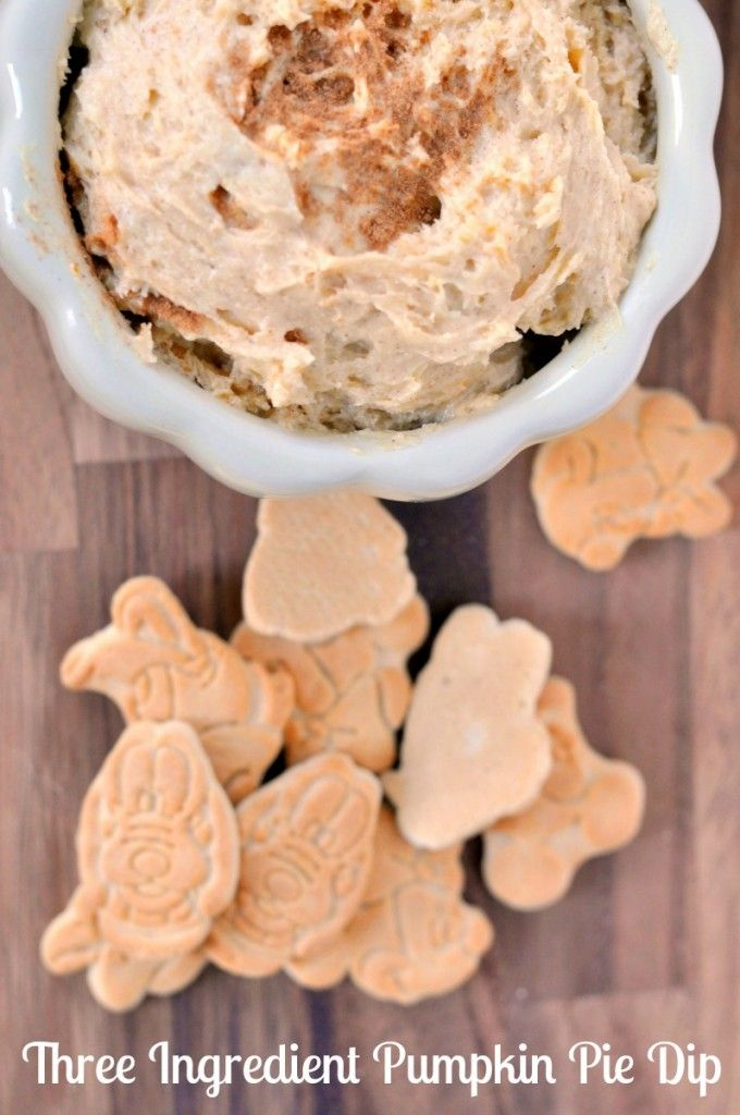 This is THE BEST pumpkin pie dip ever. Oh, and it only takes three ingredients to make.