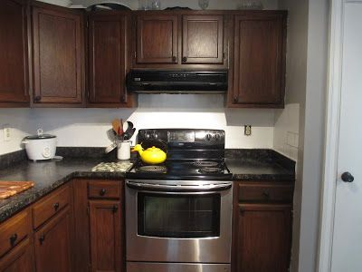 restaining kitchen cabinets after | Stained kitchen ...