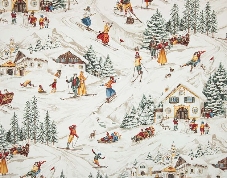 If I had  ski/mountain house I would use this in a powder room...how utterly charming!  Pierre Frey | French Furnishing fabrics, Interior fabrics, Wallpapers, Sofas, Rugs, Carpets and Home accessories