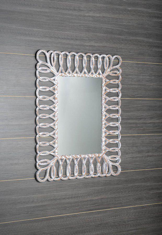 SEVILLA zrcadlo v rámu, 80x120cm, bílá, SAPHO E-shop