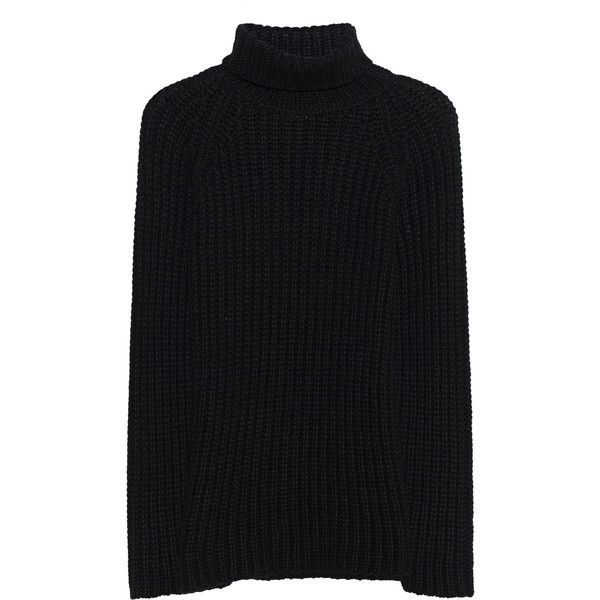 AVANT TOI Turtle Neck Black // Cashmere knit pullover ($825) ❤ liked on Polyvore featuring men's fashion, men's clothing, men's sweaters, mens heavy wool sweater, mens slim fit sweaters, mens turtleneck sweater and mens chunky knit sweater