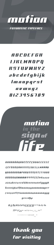 #Motion #Futuristic #Font - Futuristic Decorative Download here:  https://graphicriver.net/item/motion-futuristic-font/19227983?ref=alena994