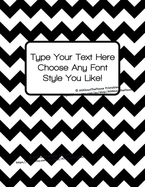 Black And White Chevron Binder Cover : Best ideas about binder dividers on pinterest