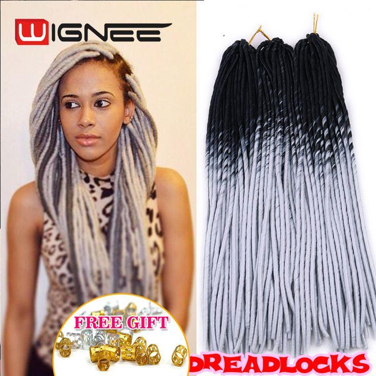 20 Inch Ombre Black Grey Color Faux Locs Crochet Braids Pre Braided Synthetic Soft Dreadlocks Braiding Hair Extensions Wholesale US $4.90 - 46.73