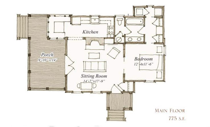 7 7 our town plans peachtree architects 775 for Our town house plans