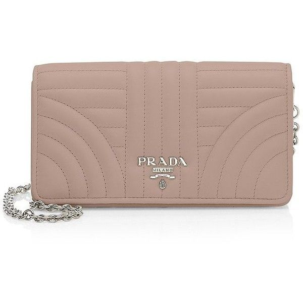 Prada Quilted Crossbody Phonecase (2.740 RON) ❤ liked on Polyvore featuring bags, handbags, shoulder bags, leather man bags, leather crossbody purse, brown leather shoulder bag, purses crossbody and leather crossbody handbags