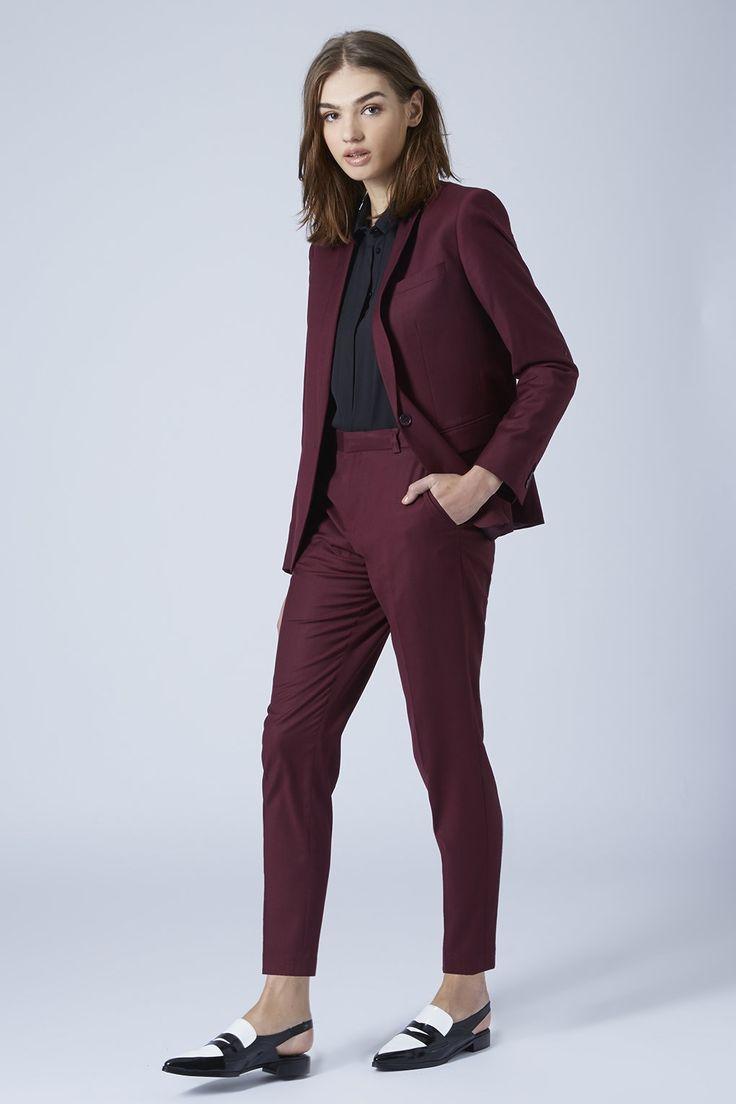 Topshop Burgundy Suit
