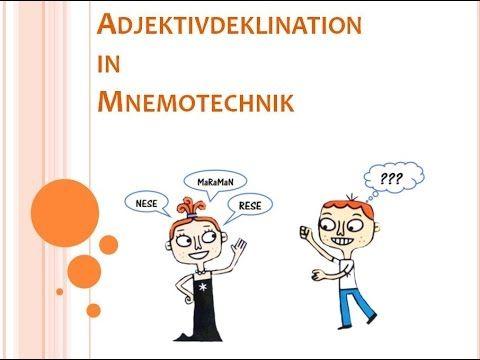 Adjektivdeklination in Mnemotechnik