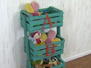 Manualidades y artesan as organizador con cajones de - Manualidades con cajas de frutas ...