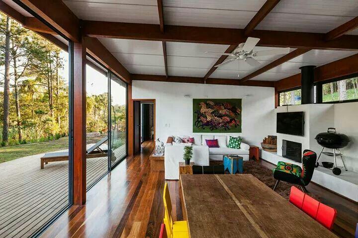 ideias jardins moradiasEstrutura metálica e telhas termo acústicas