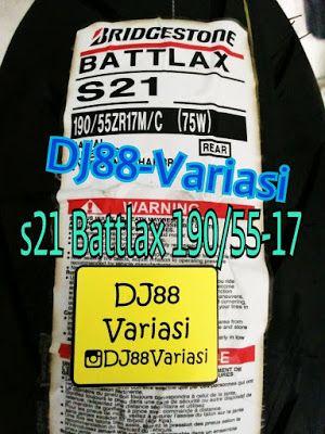 Ban battlax s21 190 55 17 tubless ban belakang tapak lebar ukuran 190
