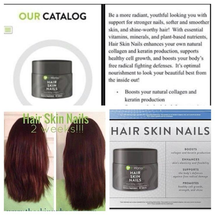 It Works! New Hair Skin Nail supplements is amazing! Just check out these amazing results after only 2 weeks!! Biotin Biotin Biotin!!!! Contact me to order!! www.skinnythehealthyway.com / jillena24@gmail.com / www.facebook.com/glamorousskinnywraps