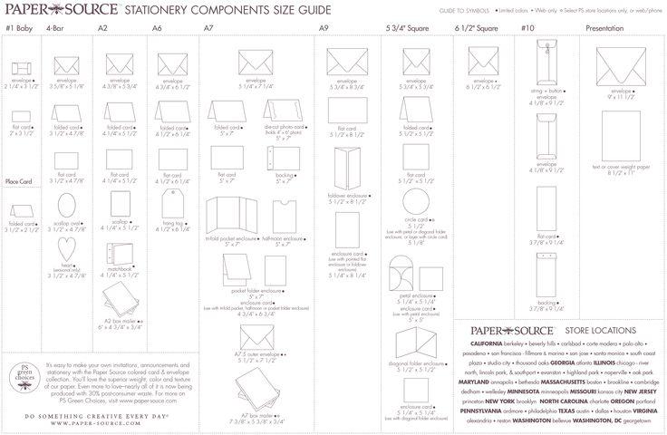 Wedding Invitation Sizes: Envelope Size Chart - Paper Source